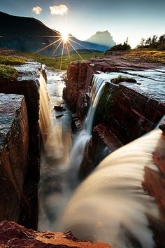 Triple Falls at Glacier National Park ~ Montana