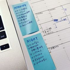sticky notes + blue + on schedule