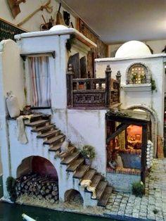 Jill R.'s media statistics and analytics Christmas Nativity Scene, Christmas Crafts, Garden Nook, Ceramic Houses, Le Far West, Miniature Houses, Fairy Houses, Little Houses, Dollhouse Miniatures