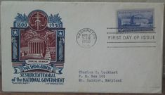 NATIONAL GOVERNMENT SESQUICENTENNIAL 1950  First Day Of Issue Cover 3 Cent Stamp