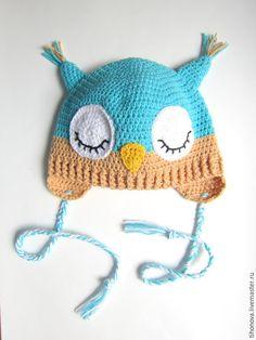 """Купить Шапочка """"Мой совенок"""" - разноцветный, детская шапочка, шапка детская, шапка детская вязаная"""