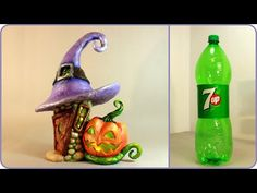 TUTORIAL-----(3760) ❣DIY Halloween Fairy House Lamp Using a Plastic Bottle❣ - YouTube