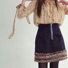 """Betty"" and ""Diana"" dancing  #corduroy #skirt #blue #wool #aline #fashion"