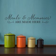 Meals & Memories Wall Decal  Kitchen Wall by StephenEdwardGraphic