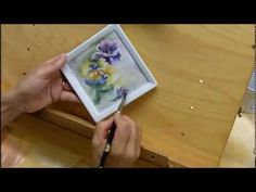 Porcelain Painting -Applying Liquid Bright Gold by Brush by Jackie Halhead,UK - YouTube
