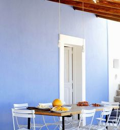 decor, blue walls, colors, filicudi, interior space, italy, blues, summer houses, color color