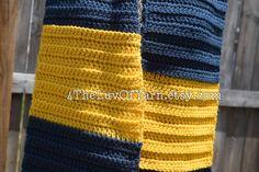 Crochet Scarf Men's Scarf Women's Scarf Navy by 4TheLuvOfYarn