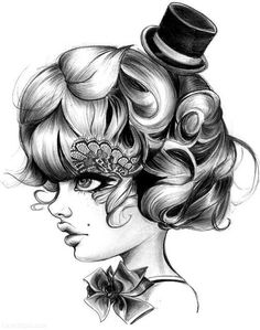 Pencil Sketch cute girl art blackandwhite sketch draw