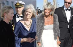 Left photo: Princess Margaretha, Mrs. John Ambler and right photo: Princess Birgitta of Hohenzollern arrive at the pre-wedding dinner and cruise of their nephew,  Prince Carl Philip, 13 June 2015.