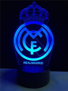 Real Madrid logo LOGO touch 3D colorful Nightlight lamp – 3D Optical Lamp Real Madrid Cake, Ramos Real Madrid, Real Madrid Team, Real Madrid Football Club, Logo Del America, Imagenes Real Madrid, Real Madrid Logo Wallpapers, Cr7 Messi, Lionel Messi