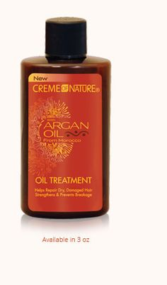 Argan Oil Treatment is instantly absorbed for Exotic Shine without oily residue, smoothes hair's cuticle layer, reduces frizz and leaves hair silky soft.