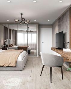 Modern Luxury Bedroom, Master Bedroom Interior, Bedroom Closet Design, Bedroom Furniture Design, Stylish Bedroom, Modern Bedroom Design, Room Ideas Bedroom, Home Room Design, Luxurious Bedrooms