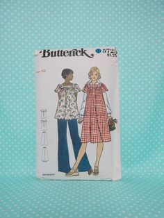 Maternity Pattern. Butterick 5723. Size 10. Dress, Top & Pants. Partially…