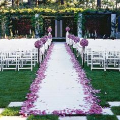 Lavender wedding aisle- If ever I do again, it will be covered with lavender and lillacs- purple passion