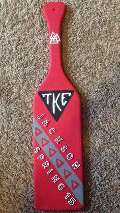Tau Kappa Epsilon Paddle TKE Sigma Tau, Gamma Phi Beta, Alpha Phi, Kappa, Fraternity Paddles, Big Little Paddles, Greek Life, Sorority, Diys