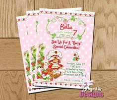 Vintage Strawberry Shortcake Birthday Invite  . . .
