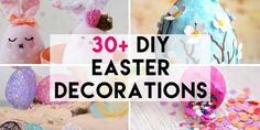 From 'Yarn Easter Eggs' to 'Easter bunny wreaths' and 'no sew sock bunny' to 'curious bunny pots' check out these amazing DIY Easter Decorations that can all be made for a fraction of the cost of store bought decorations! Easter Table, Easter Party, Easter Eggs, Easter Bunny, Easter Crafts, Easter Ideas, Home Crafts, Diy Crafts, Sock Bunny