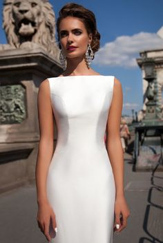 Satin Mermaid Wedding Dresses 2018 Bateau Boat Neck Sleeveless Fitted Long Sheath With Detachable Train Bow V Back Plus Size Bride Gowns Wholesale Wedding Dresses, Wedding Dresses 2018, Cheap Wedding Dress, Bridal Dresses, Flower Girl Dresses, 2017 Wedding, Satin Mermaid Wedding Dress, Girls First Communion Dresses, Wedding Dress Pictures