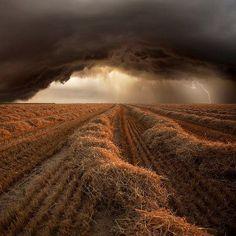 Orage d'été dans les champs de Beauce.