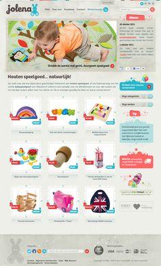 Jolena homepage design - design by Duoh!
