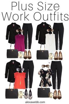 Plus Size Herbst Work Outfits - Plus Size schwarzer Hosenanzug - Zebra Heels - N. - Plus Size Herbst Work Outfits – Plus Size schwarzer Hosenanzug – Zebra Heels – Nordstro … – Plus Size Work Wear – Source by damenmodekoln - Plus Size Work, Look Plus Size, Business Casual Outfits For Women, Fall Outfits For Work, Girls Fall Outfits, Casual Fall Outfits, Stylish Outfits, Black Pant Suit, Black Pants