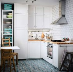 Ikea small living room ideas small bedroom ideas small studio ideas kitchen redesign bedroom ideas for . Ikea Small Kitchen, Small White Kitchens, Ikea Kitchen Design, Modern Kitchen Design, New Kitchen, Kitchen Decor, Kitchen White, Kitchen Storage, Very Small Kitchen Design