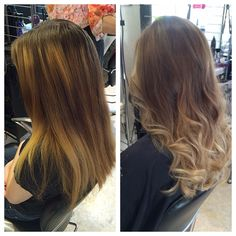 Lucy's balayage & beach wave style