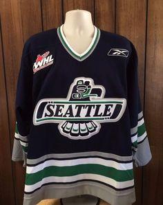 Authentic Official CHL Reebok Seattle Thunderbirds Hockey Jersey Size L  NWOT  Reebok  SeattleThunderbirds 829d1cb8f