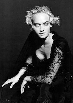 "US Harper's Bazaar April 1994 ""Paris Couture"" Model: Amber Valletta Ph: Peter Lindberg Stylist: No credit Hair: Odile Gilbert Make-up: Stephane Marais"