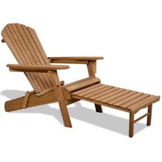Wood Adirondack Chair Foldable Pull Out Ottoman Contoured Seat Outdoor Furniture for sale online Wood Adirondack Chairs, Adirondack Chair Plans Free, Adirondack Chair Cushions, Leather Swivel Chair, White Leather Dining Chairs, Leather Club Chairs, Black Chairs, Outdoor Seating, Outdoor Chairs