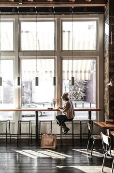 We are doing some design research on coffee shops design and particularly looking into bar style seating next to the windows. This is a coo...