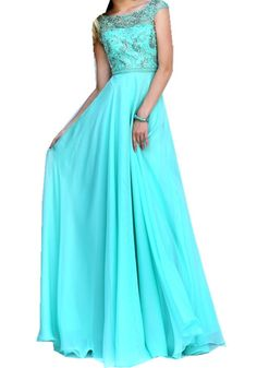 Tianzifang Women's A Line Floor Length Bead Chiffon Prom Dress 2016 Evening Gown Size 8 Seafoam. Color:Coral,Seafoam,White. Material:Chiffon. Neckline:Scoop. Embellishment:Crystal,Beading. Back Style:Backless.