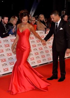 Rochelle Humes of The Saturdays dressed in Suzanne Neville