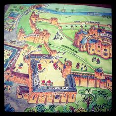 @Alberto Vazquez: Dungeons, dragons and pretending to be Potter . . . Great map of Alnwick Castle Lion, Alnwick Castle, Clash Of Clans, Dungeons And Dragons, Places To Travel, Places Ive Been, Photo And Video, Map, Leo