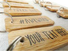 Personalised Wooden Keyring – Make Memento
