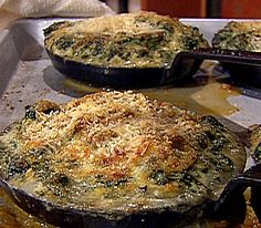 Baked Oysters with Bacon and Parmesan Cheese Recipe