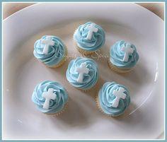 Boy Baptism Cupcakes | Flickr - Photo Sharing!