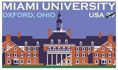 In 2009, the U.S. Postal Service commemorated Miami University's bicentennial by issuing a stamped card in the Historic Preservation series. The stamped image on the card depicts MacCracken Hall, a residence hall located on the South Quad of Miami University's main campus in Oxford, Ohio.