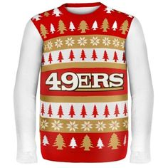 San Francisco 49ers Wordmark Ugly Sweater