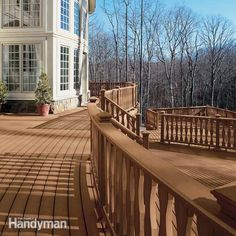 composite or synthetic decking is the ultimate choice for a low-maintenance, long-lasting deck. learn about decking choices for building your new deck.