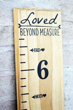 Height Marker for Growth Chart Ruler  MOM & DAD