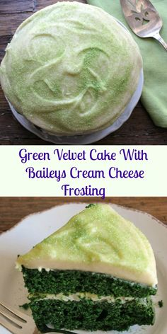 Green Velvet Cake with Baileys Cream Cheese Frosting, the perfect and ...
