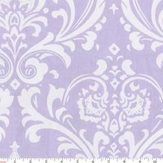 Lilac Osborne Damask Fabric by Carousel Designs.