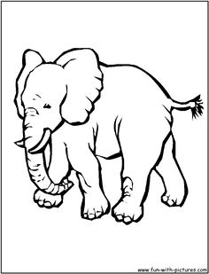 Asian Elephant Animal Coloring PagesColoring
