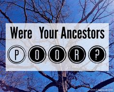 Genealogy Records for the Poor