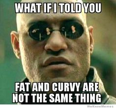Haha! It's funny but there are some fat, curvy ladies out there such as muh self