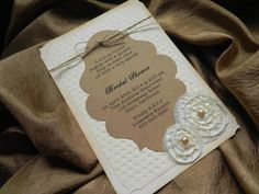 Shabby Chic Floral Fabric Bridal Shower by WhiteGownInvitations, $4.00