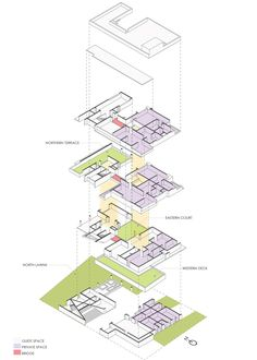Image 18 of 19 from gallery of HKS House / SDeG. Architecture Drawings, Architecture Plan, Residential Architecture, Cubic Architecture, Urban Design Concept, Civil Construction, Map Projects, Unusual Buildings, Futuristic Art