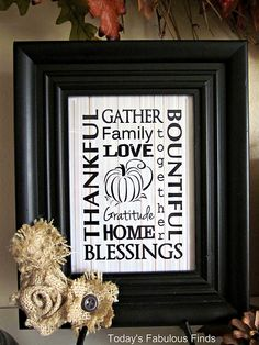 Thanksgiving Subway art printable and tutorial - LOVE THIS!