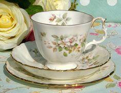 Royal Albert - Haworth A vintage teacup, saucer and tea plate trio.